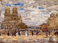 Notre-Dame-Paris-Maurice-Prendergast-oil-painting