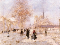 Notre-Dame-de-Paris-Jean-Francois-Raffaelli-oil-painting-1