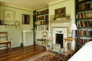 The interior of Virginia Woolf's bedroom at Monks House, East Sussex