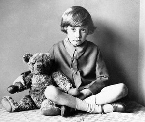 Christopher Robin Milne with his Teddy Bear