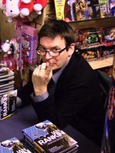 Ian_Rankin_signing_Dark_Entries_in_Forbidden_Planet_Edinburgh_06