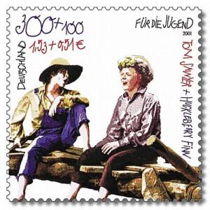 Stamp_Germany_2001_MiNr2194_Tom_Sawyer_und_Huckleberry_Finn