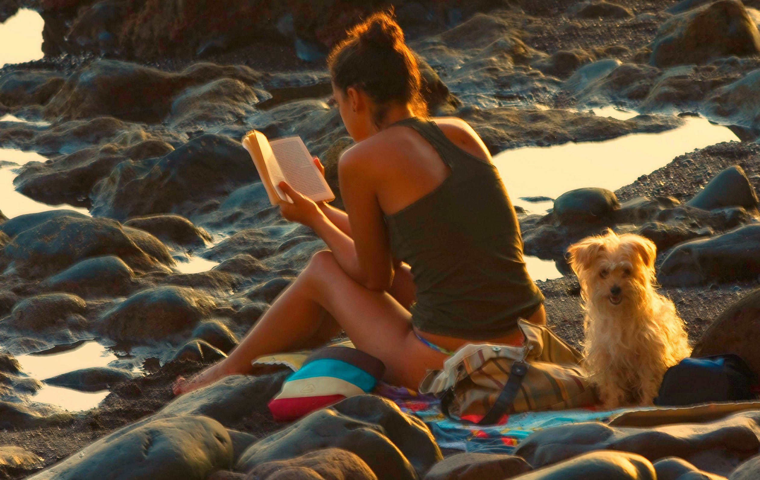 Woman_reading_at_the_beach