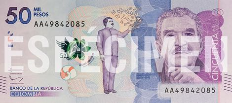 Colombia-Features-writer-Gabriel-Garcia-Marquez-on-Banknote