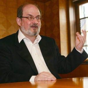 """Indian born writer Salman Rushdie speaks at a news conference in Zurich, Switzerland, Tuesday, April 16, 2002. Rushdie will be reading from his newest book """"Fury"""" later Tuesday. Iran's late revolutionary leader, Ayatollah Ruhollah Khomeini, issued a fatwa _ or Islamic edict _ against Rushdie on Feb. 14, 1989. Khomeini ordered Muslims to kill the Indian-born author because Rushdie had allegedly insulted Islam in his best-selling novel, ``The Satanic Verses.'' (AP Photo/Keystone/Franco Greco)"""