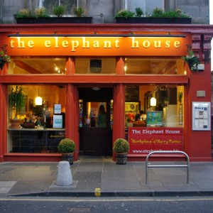 The Elephant House, one of the cafes JK Rowling wrote in