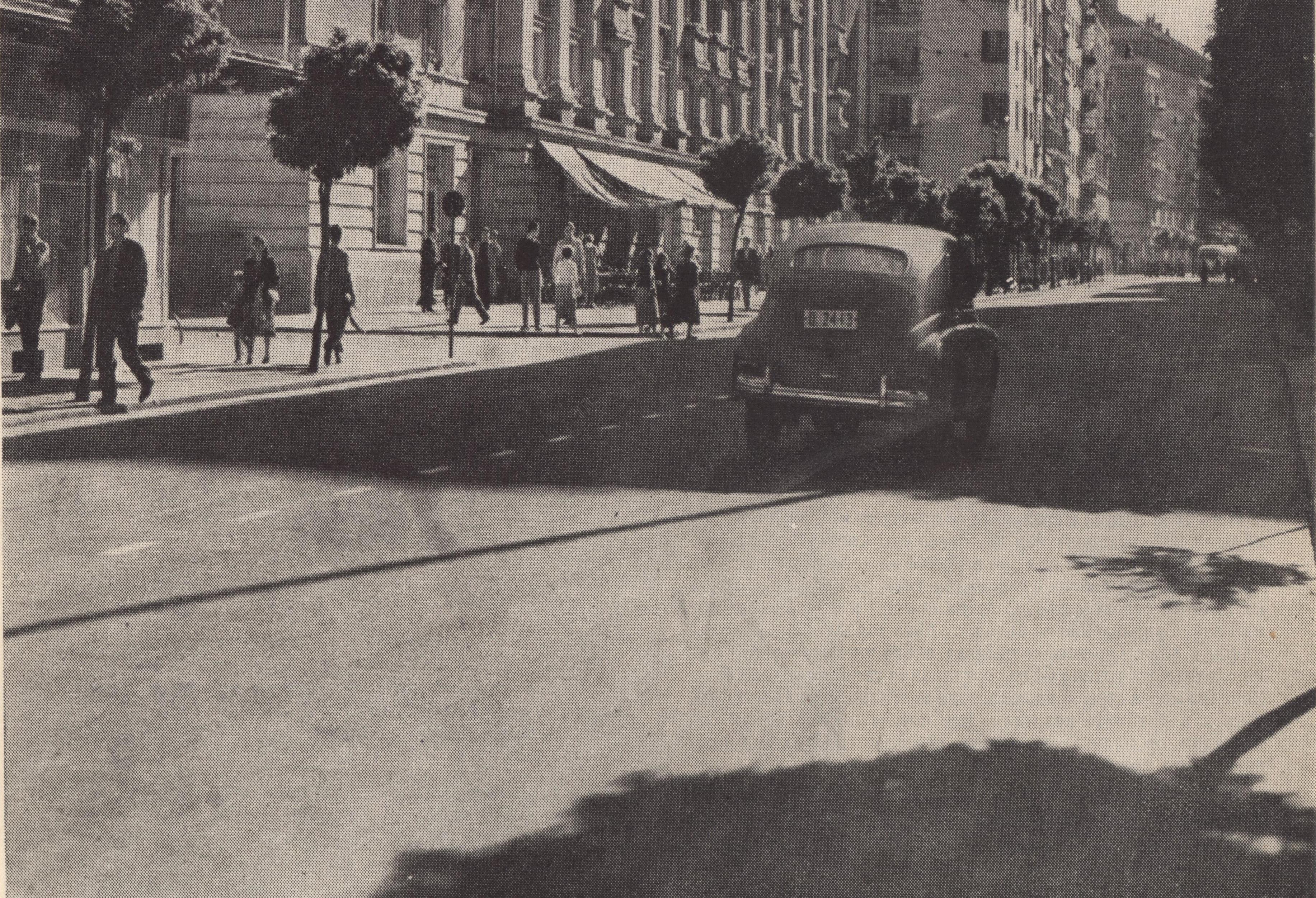 ул. Раковски през 50-те години