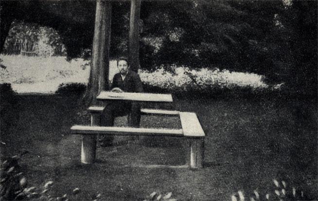 CHekhov-v-melikhovskom-sadu.-Fotografiya.-1892-1894-gg