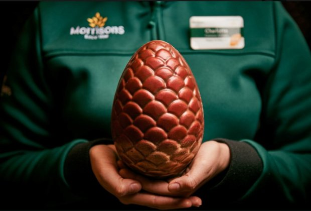 Spring is Coming: Morrisons Just Released Game Of Thrones-Inspired Easter Eggs METRO GRAB taken from: https://twitter.com/MorrisonsNews/status/973223585568493569 Credit: Morrison's/Twitter