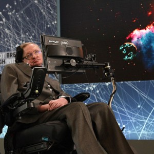 Yuri Milner And Stephen Hawking host press conference to announce Breakthrough Starshot, a new space exploration initiative, at One World Observatory on April 12, 2016 in New York City.