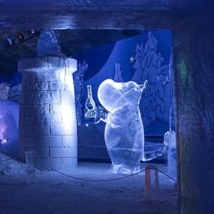 muumi jääveistos näyttely