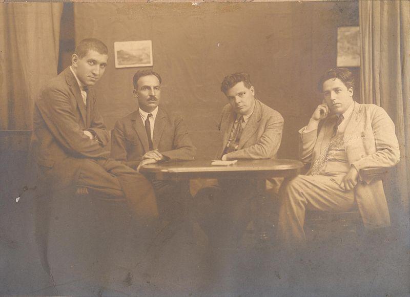 Голямата четворка - Тодор Боров, Елин Пелин, Александър Балабанов и Д. Митов... Снимката открихме в Уикипедия