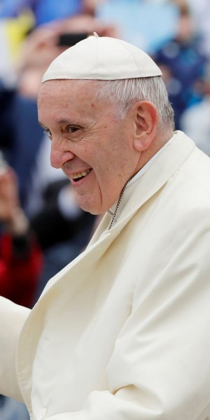 Pope Francis arrives at the Knock Shrine in Knock, Ireland, August 26, 2018. REUTERS/Stefano Rellandini