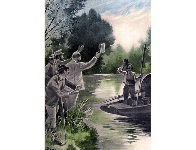 Илюстрация от книгата на Жул Верн