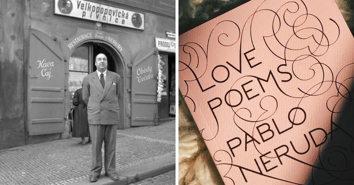 """Пабло Неруда на улица """"Нерудова"""" в сърцето на Прага - и красиво издание на стиховете му на английски"""