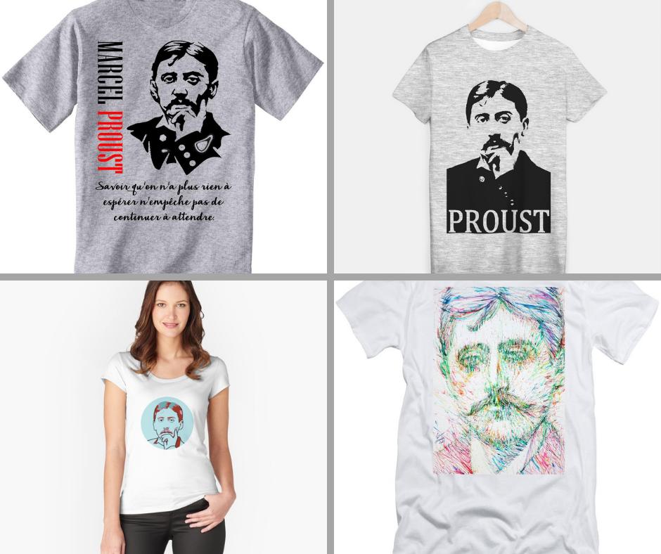 Прустоманията днес има и такава форма - тениски с лика на писателя
