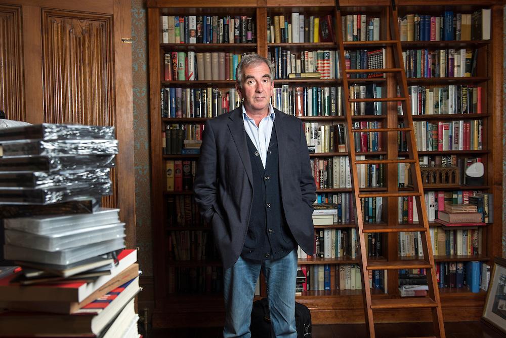British author, Robert Harris, at home in Kintbury, Berkshire, Britain.
